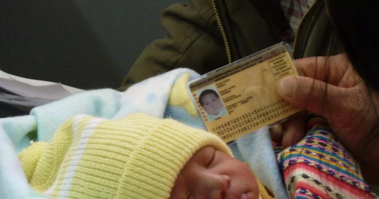 An infant is issued an identity card